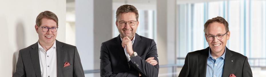 Mitglieder des Vorstands - Andreas Tillmanns, Markus Kurtseifer, Wilhelm Höser, Dr. Ralf Kölbach